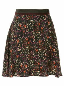 Loveless high waist floral pattern skirt - Black