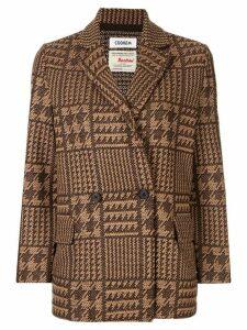 Coohem tech tweed jacket - Brown