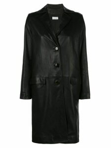 Beau Souci oversized leather coat - Black
