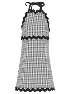 Miu Miu gingham checked gabardine dress - Black