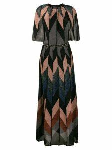 M Missoni geometric pattern long dress - Blue