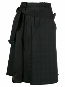 Maison Margiela asymmetric pleat detail skirt - Black