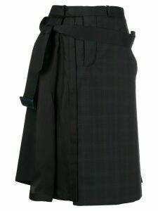 Maison Margiela asymmetric pleat detail skirt - Black
