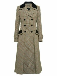 Miu Miu Prince of Wales check coat - Brown