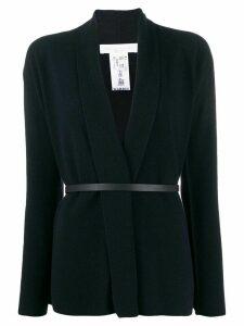 Fabiana Filippi belted knit coat - Blue
