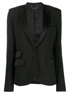 Paco Rabanne fitted single-breasted blazer - Black