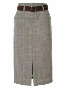 Loveless high-waisted plaid skirt - Grey