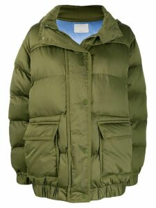 Sandro Paris padded hooded coat - Green