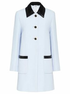 Miu Miu Cady button-front coat - Blue