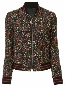 Loveless floral print bomber jacket - Black