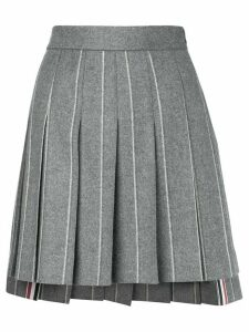 Thom Browne Shadow Stripe Flannel Miniskirt - Grey