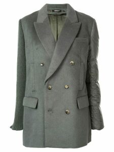 Undercover contrast double-breasted blazer - Green