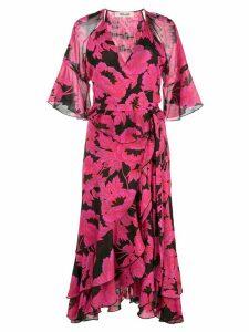 Diane von Furstenberg Zion ruffled wrap dress - Pink