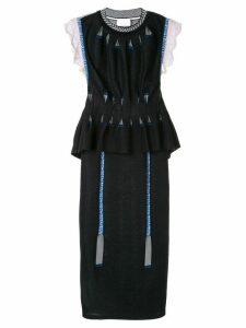 Mame Kurogouchi layered sweater dress - Blue