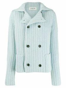 LANVIN double-breasted knitted cardigan - Blue