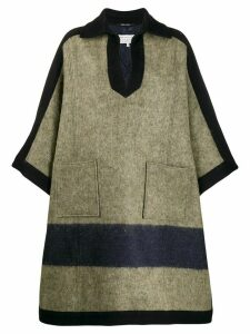 Maison Margiela oversized striped coat - Green