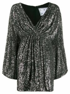 In The Mood For Love Young sequinned flared dress - SILVER