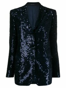 Tagliatore sequinned blazer - Blue
