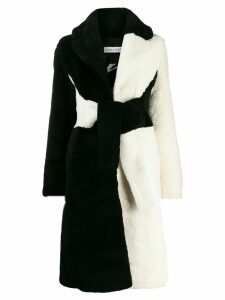 Saks Potts Wrapis two-tone coat - White