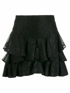 Wandering lace ruffle skirt - Black