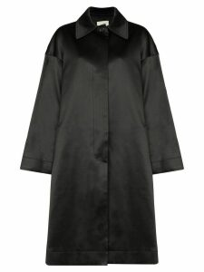 We11done single-breasted trench coat - Black