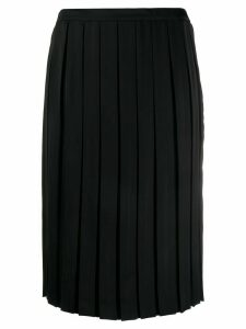 Plan C pleated midi skirt - Black