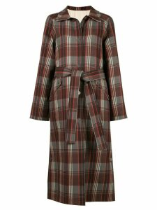 Goen.J Zen reversible checked coat - Red