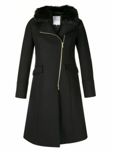 Loveless off-centre zipped coat - Blue