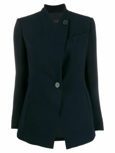 Emporio Armani slim-fit collarless blazer - Blue