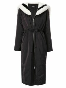 Goen.J contrast sailor padded coat - Black