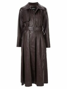Goen.J vintage croc-effect trench coat - Brown