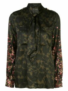 Mother Of Pearl camouflage print blouse - Green