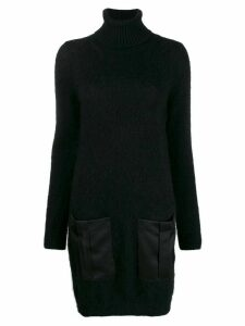Semicouture turtle-neck sweater dress - Black