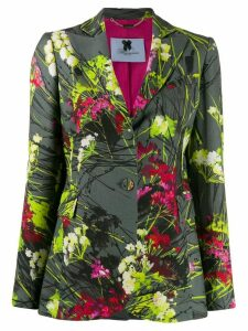 Blumarine single-breasted floral-print blazer - Grey