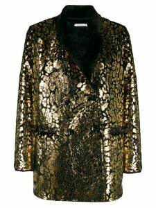 Mes Demoiselles metallic printed blazer - Black