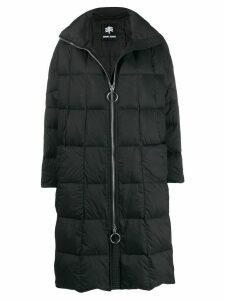 Ienki Ienki Pyramide hooded padded coat - Black