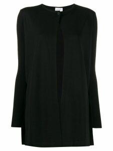 Salvatore Ferragamo printed lining knitted cardigan - Black