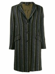 Aspesi striped single breasted coat - Grey