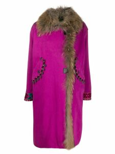 Bazar Deluxe embroidered multi-charm coat - PINK