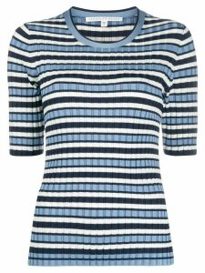 Veronica Beard striped ribbed top - Blue