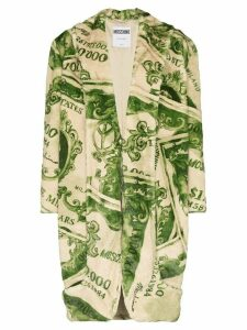 Moschino dollar bill patterned coat - Green