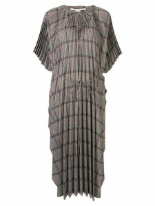 Stella McCartney check pattern dress - Brown
