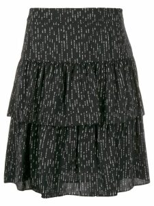 Steffen Schraut dotted tiered skirt - Black