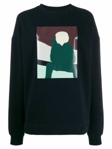 Plan C colour-block sweatshirt - Blue