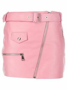 Manokhi fitted biker skirt - PINK