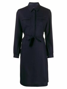 A.P.C. Angele belted shirt dress - Blue