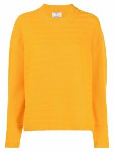 Allude ribbed knit sweatshirt - Yellow