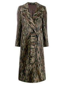 Tagliatore Molly animal-print coat - Brown
