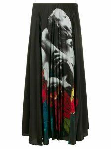 Valentino x Undercover print pleated skirt - Black