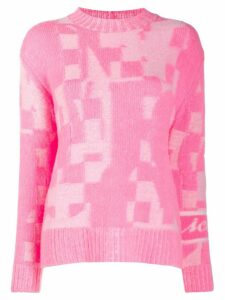 Iceberg patchwork knitted jumper - Pink